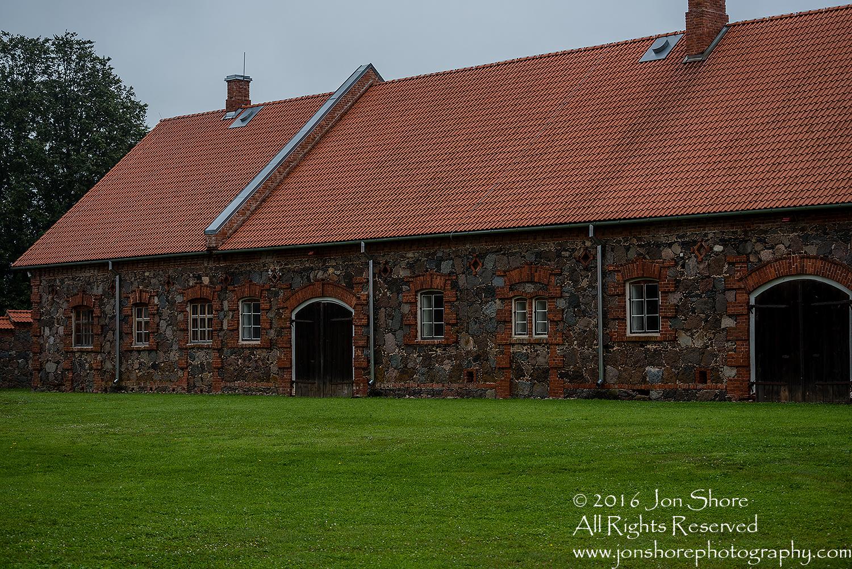 Stone and Brick Barn in Mooste Estonia.
