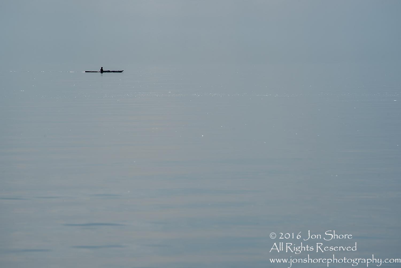 Kayak on Glass Baltic Sea near Tuja, Latvia. Tamron 300mm.