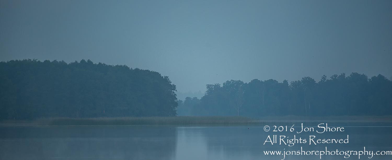 Latgale Lake in the Fog. Latvia. Tamron 200mm