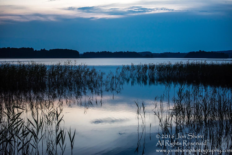 Sunset on Lake. Latgale, Latvia. Tamron 100mm