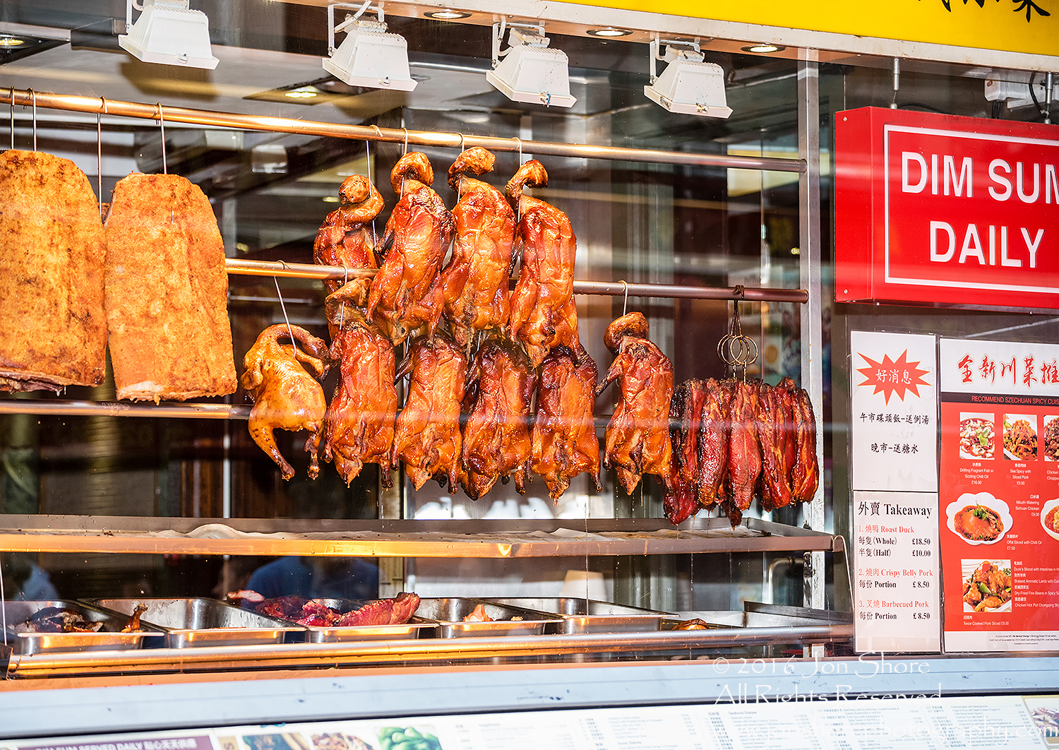 BBQ Duck hanging in the Window - Chinatown, London, UK Tamron 100mm Lens