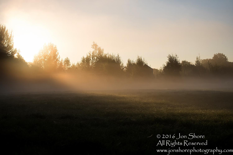 Dawn at a Foggy Field - Summer - Burtnieks, Latvia Tamron 70mm Lens