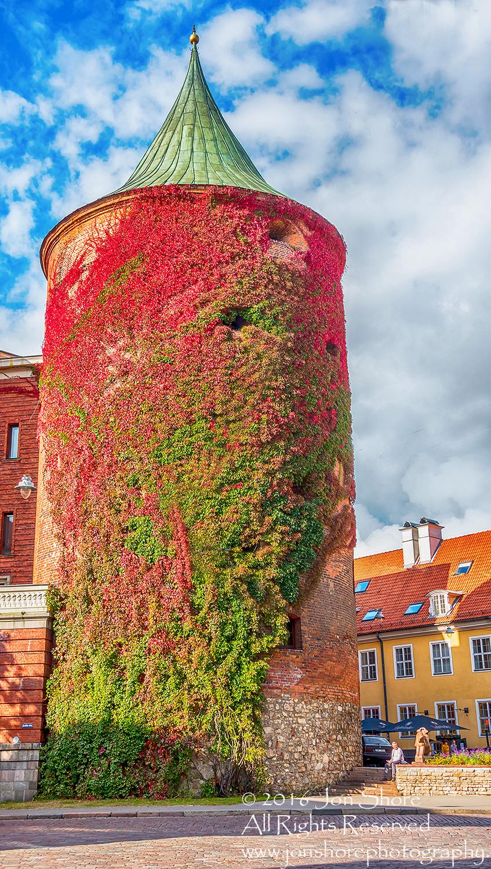 Gunpowder Tower. Old Town Riga Latvia. Nikkor 200mm