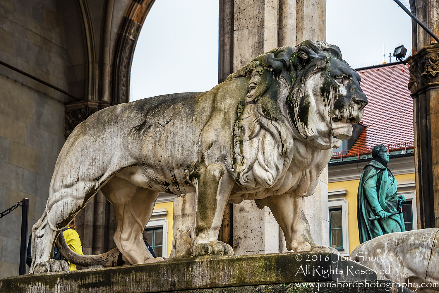 Crying Lion, Munich, Germany. Nikkor 200mm