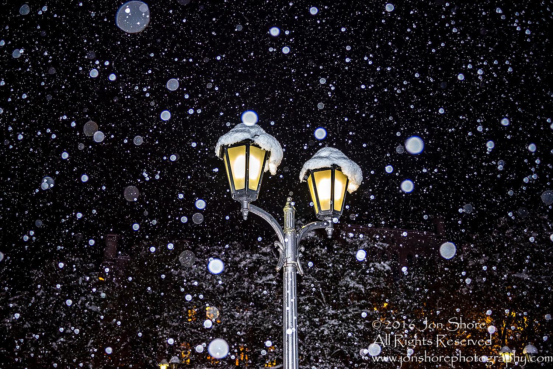 Winter night Riga Latvia Old Town. Nikkor 50mm lens