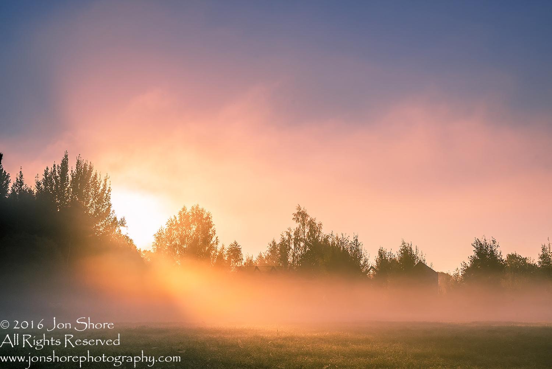 Colorful Sunrise at Burtnieki, Latvia. Tamron 70mm