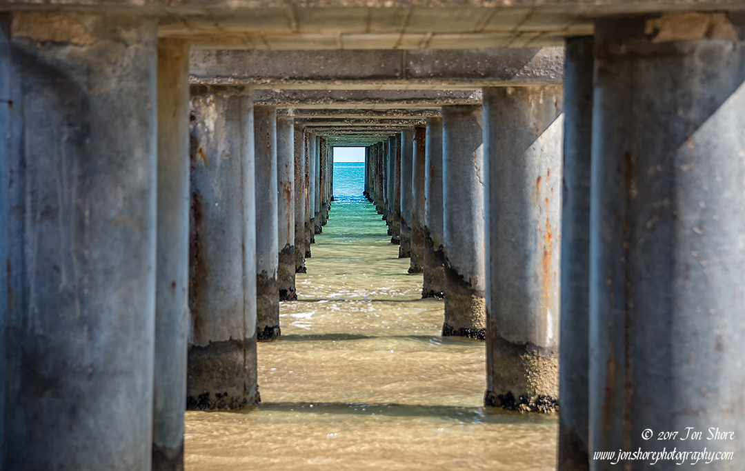 Vasto Marina pier Italy September 2017