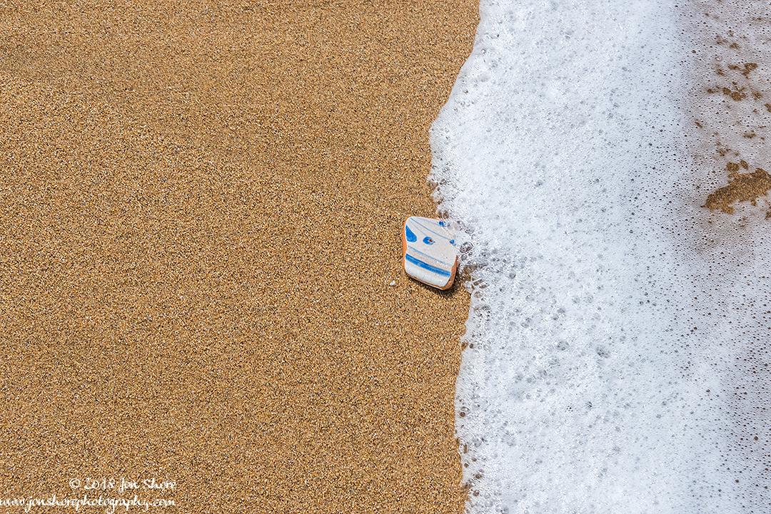 Pottery Shard on Beach San Marco di Castellabate Cilento Italy