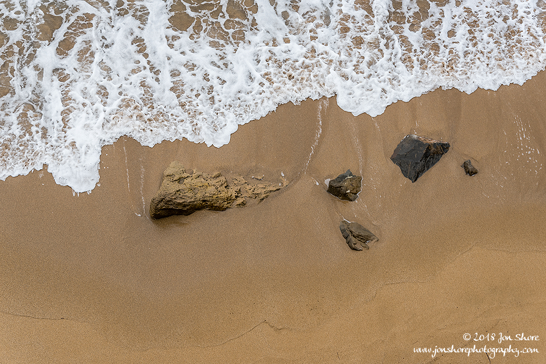Beach and Rocks Background Spring