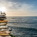 Stone stack Sunset Spring San Marco di Castellabate Italy March 2018 by Jon Shore 72dpi-6236