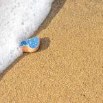Blue tile on beach Southern Mediterranean Cilento Italy Jon Shore November 2018 72dpi-2022