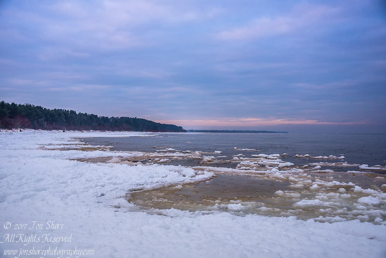 Winter at a Baltic Sea Beach. Nikkor 50mm