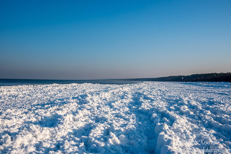 Winter at a Frozen Baltic Sea Beach. Nikkor 35mm