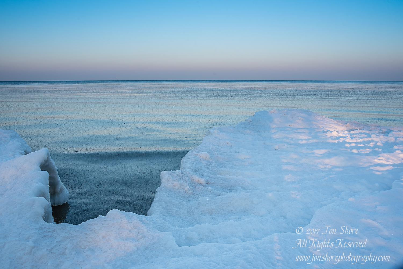 Winter at a Frozen Baltic Sea Beach. Nikkor 70mm