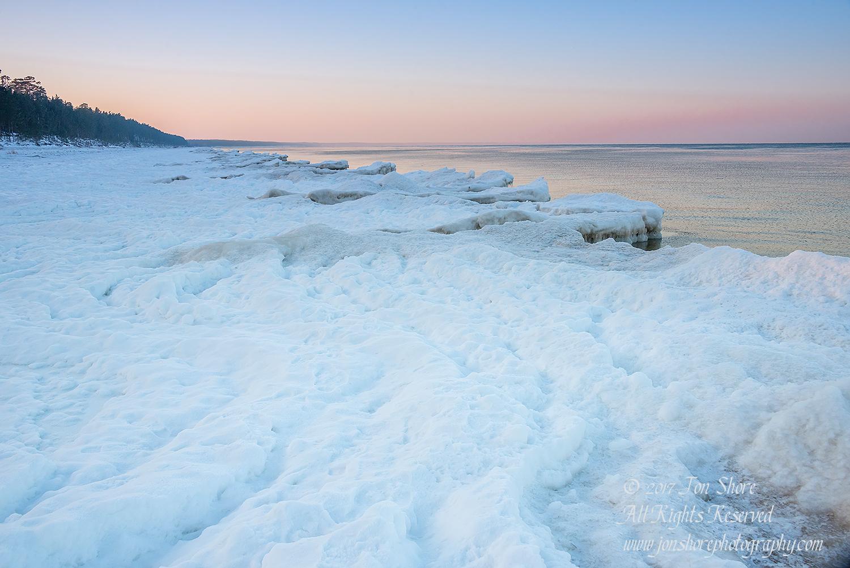 Winter at a Frozen Baltic Sea Beach. Nikkor 50mm