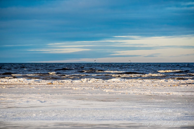 Baltic beach in winter. Nikkor 200mm