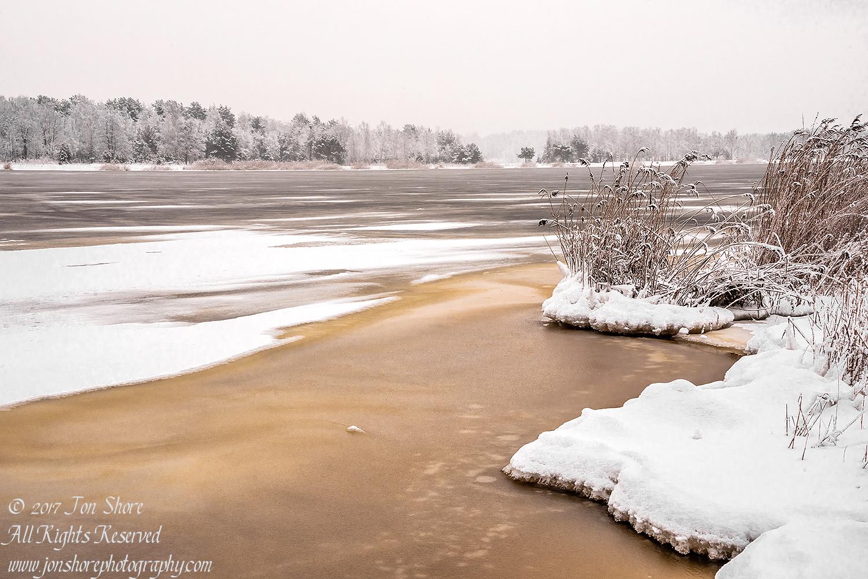 Frozen Lielupe River in Latvia. Nikkor 35mm