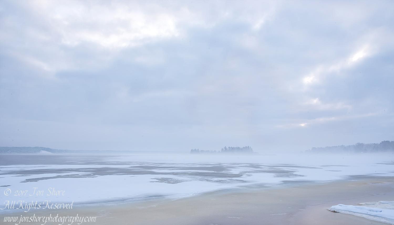 Frozen Lielupe River in Latvia. Nikkor 28mm